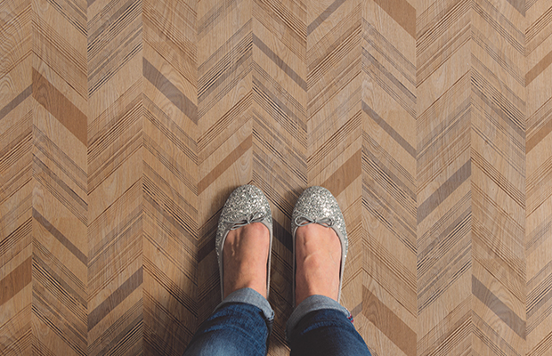 Taralay Impression in Herringbone design