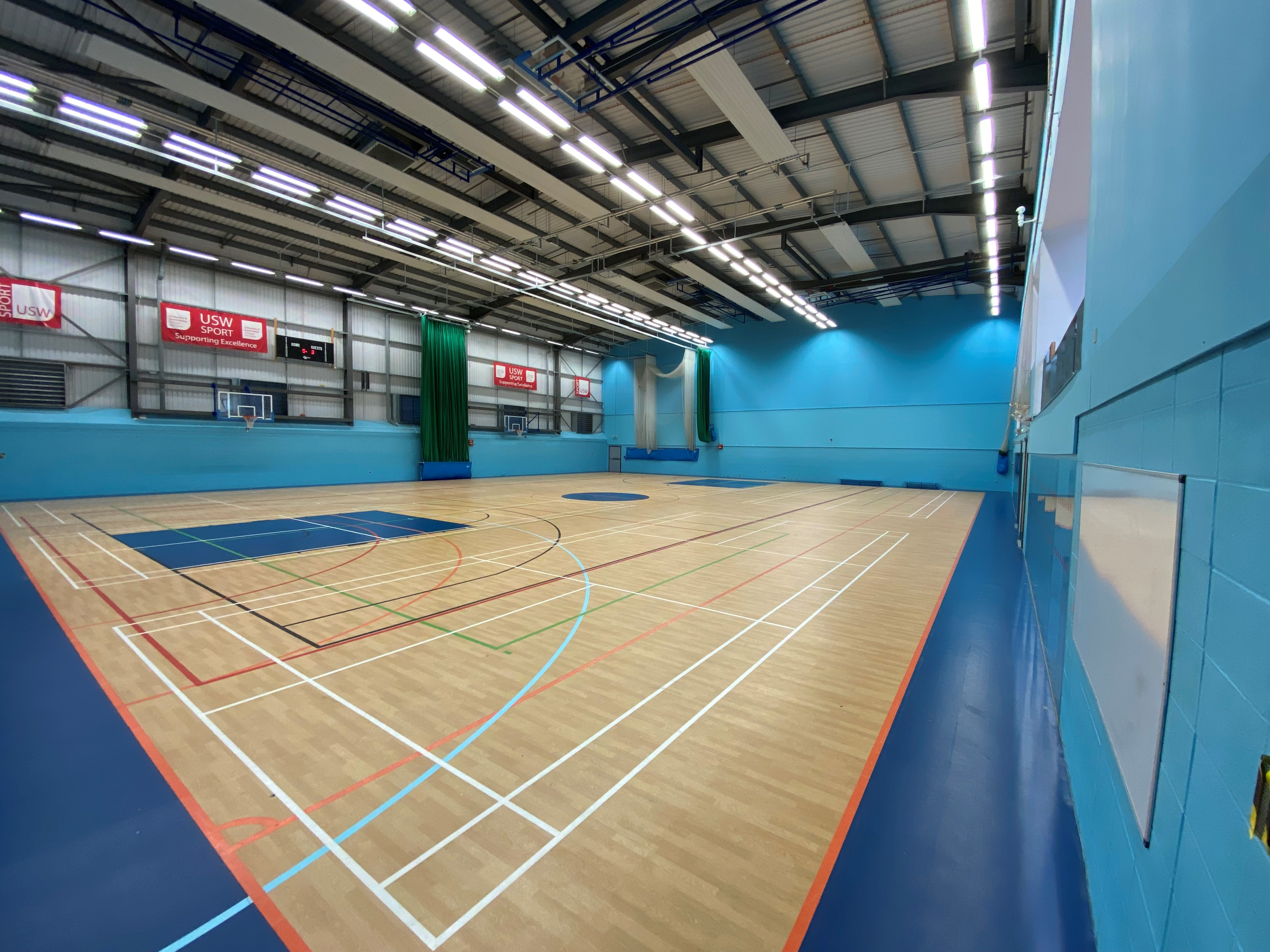 University of South Wales sports flooring