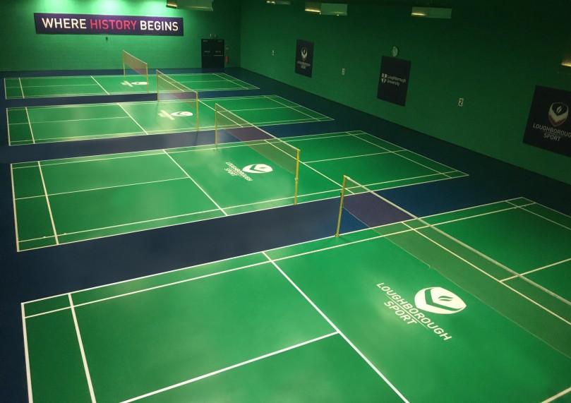 Loughborough University Badminton Flooring